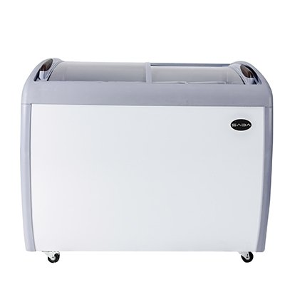 Saba SCF-39 39'' GLASS CURVE SLIDING TOP ICE CREAM FREEZER CHEST WITH LED LIGHT by SABA Air