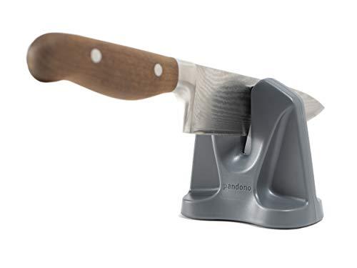 Pandono Messerschärfer | Innovative V-Form | automatischer Schärfewinkel | Schleifen und Abziehen | für Messer Aller Art | professioneller Messerschleifer im Haushalt | Knife Sharpener V-Shaped