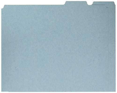 Blue Filing Guide - Pendaflex PFXPN205 Blank Tab File Guides, 25 pt. Blue Pressboard, 1/5 Cut, Letter, 100/box