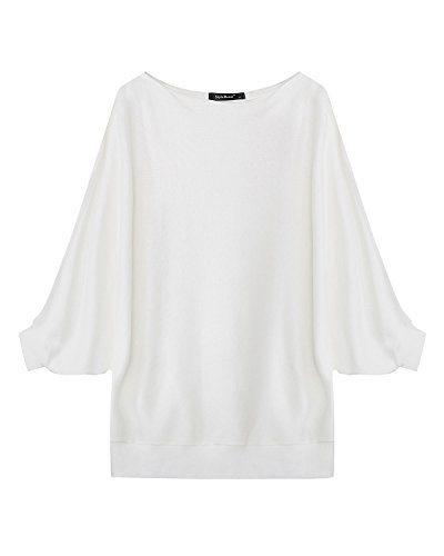 Casual Maglietta Basic Elegante shirt Styledome Manica Bianco Loose T Maglia Lunga Ufficio Top Donna qwEx74xgnY
