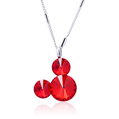 (Twenty Plus Cute Mouse Shade Necklace Pendant Jewelry Gifts for Women & Girls (Red))