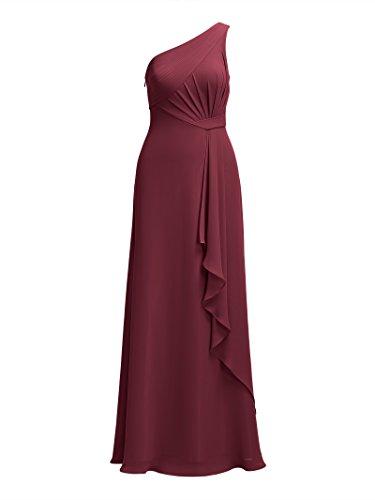 Alicepub Une Robes De Demoiselle D'honneur De Mariage D'épaule Pour Les Femmes Robe Formelle Soirée Bordeaux