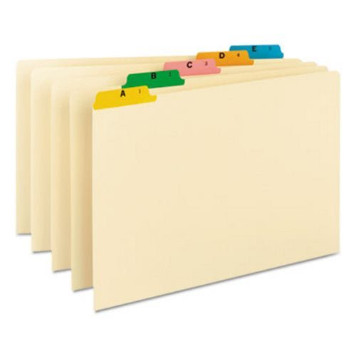 Smead Recycled Top Tab File Guides, Alpha, 1/5 Tab, Manila/Color, Legal, 25/Set ()