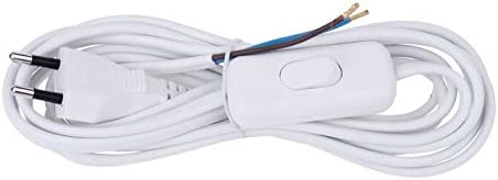 3 m Flexo-Cable-PVC EMOS 2 x 0,75 mm Blanco con Interruptor KF-H1//S051E4