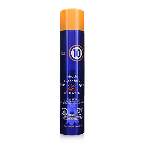 It's a 10 Haircare Miracle Super Hold Finishing Hair Spray Plus Keratin, 10 fl. oz. (Its A Miracle Dry Oil Spray)