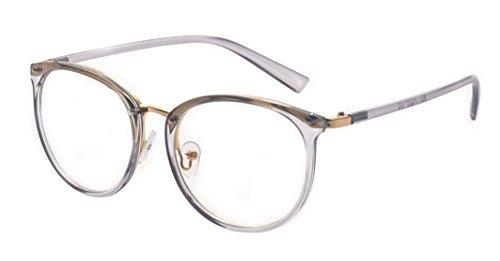 Kelens Super Comfortable Lightweight Retro Round Frame Eyeglasses Spring - Hinges Eyeglasses