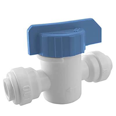 "Express Water 1/4"" Straight Inline Ball Valve Quick Connect Fitting Connection Parts for Water Filters / Reverse Osmosis RO Systems by Express Water"