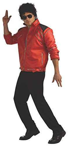 Historical Costume Ideas (Michael Jackson Deluxe Zipper Jacket, Red, Small)