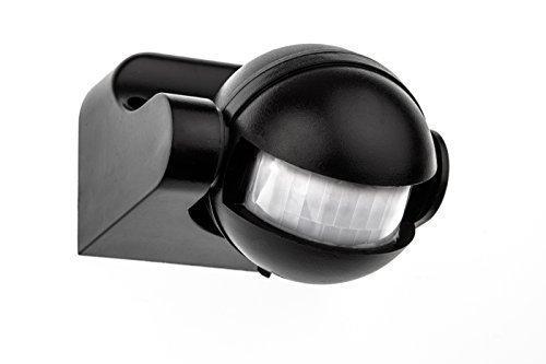 HUBER MOTION 2, Bewegungsmelder 180°, schwarz, vertikal einstellbar, energieeffizient