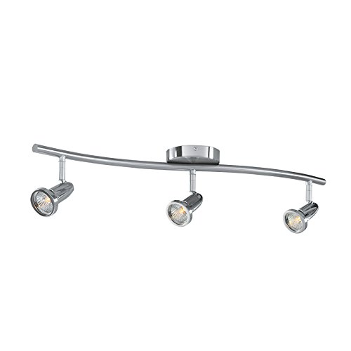 Cobra - LED Wall/Ceiling Semi-Flush Spotlight Bar - 3-Light - Brushed Steel Finish by Access Lighting
