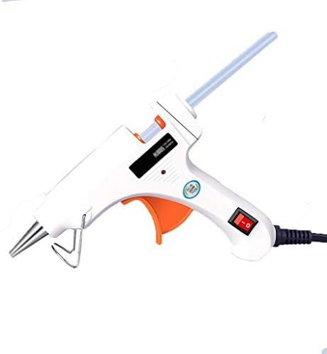 QL ホットメルトグルーガン、透明スティックのり、スティックのり7mmの、多機能修理と50Wミニ温度ガンセット、白 ホットメルトグルーガン (Color : 50W+60 sticks)