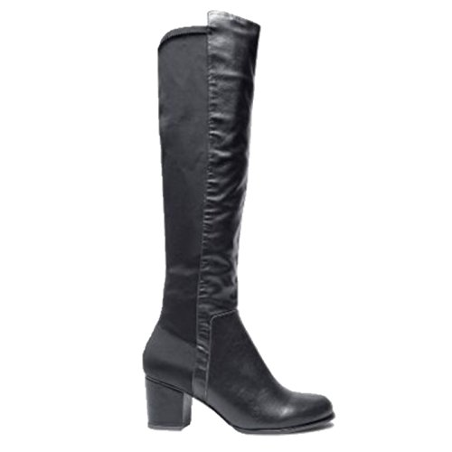 Ladies 3 Next HIGH Elasticated Boots Over Black SZ 9 Faux RRP Knee Leather 6dXnwqBdrv