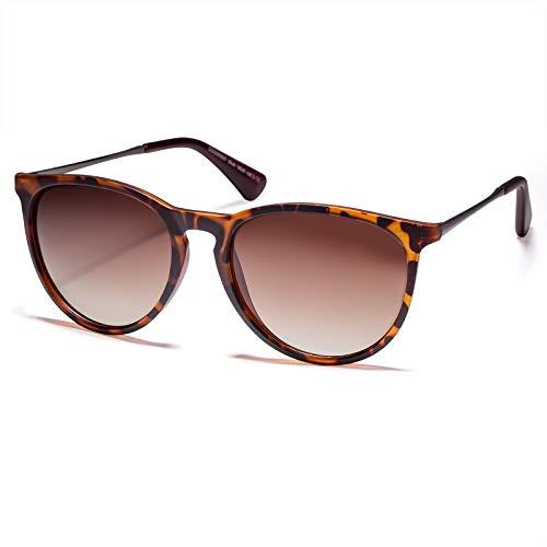 Colossein Polarized SunglassesforWomenVintage Round Cute Mirrored Eyewear UV400Protection