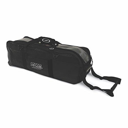 Storm Tournament 3 Ball Tote Roller Bowling Bag- No Pockets- Black