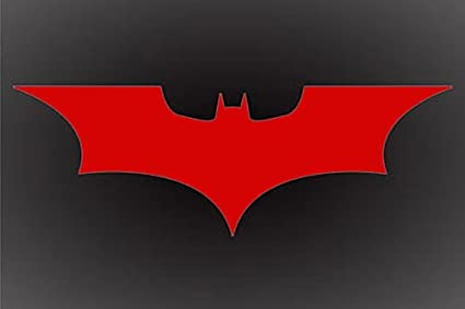 Amazon Batman Red Dark Knight Logo Decal Sticker 6 X 3