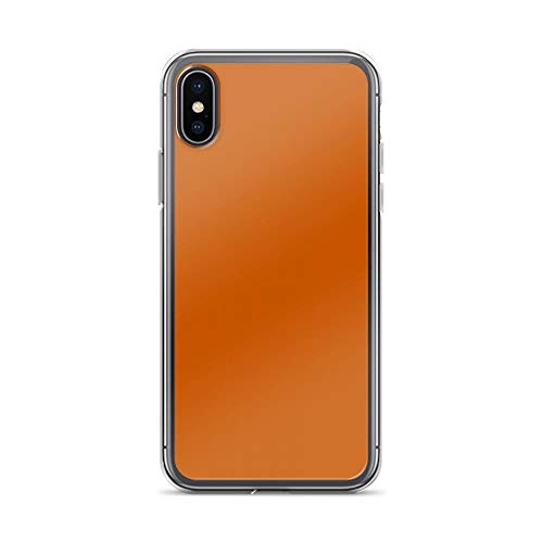 iPhone X/XS Pure Clear Case Cases Cover Burnt Orange