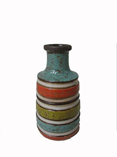 DesMa Group H4330 Multicolor Strip Ceramic Vase,
