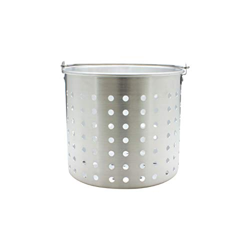 Thunder Group 16-Quart Aluminum Steamer Basket Fits - Aluminum Stock 16 Quart Pot