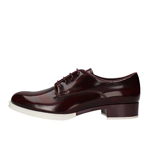 Tod's - Zapatos de cordones de Piel para mujer violeta burdeos