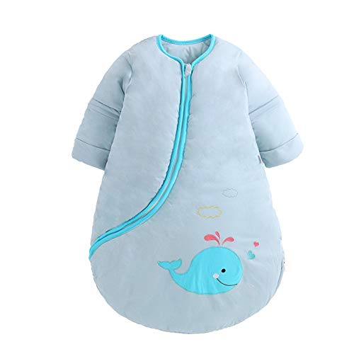 2c9f12aeb5 EsTong Unisex Baby Detachable Sleeves Sleepsack Cartoon Whale Wearable  Blanket Cotton Nest Nightgowns Sleeping Bag