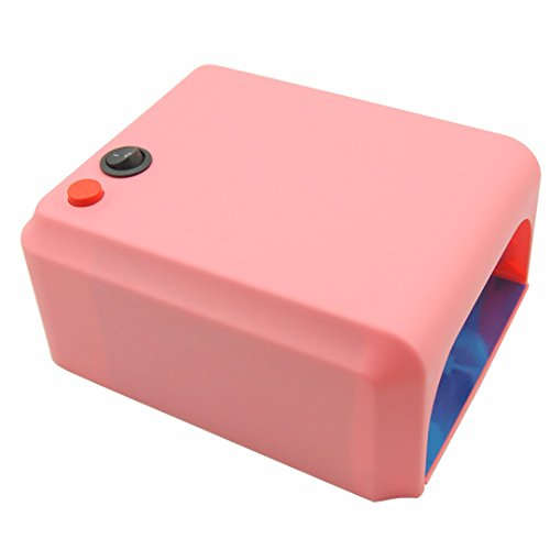 36W UV Lamp 110-220V EU Plug Nail Lamp Professional Gel Nail Dryer Curing Light Nail Art Tools pink lamp