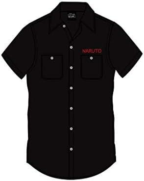 Ripple Junction Naruto: Shippuden Camisa con Botones Unisex para Adultos Ichiraku Ramen 100% algodón: Amazon.es: Ropa y accesorios
