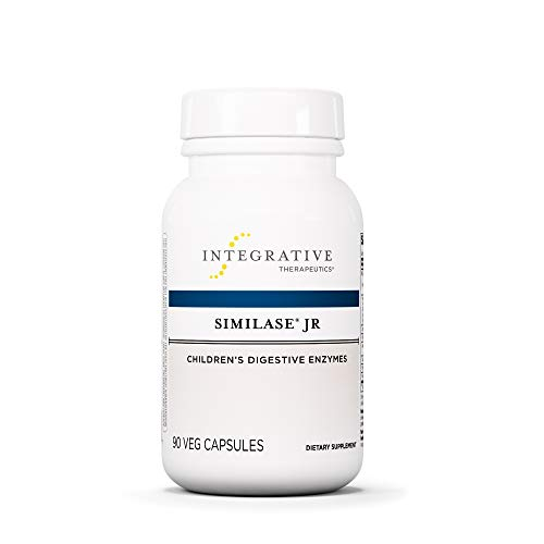 Integrative Therapeutics - Similase Jr - Physician Developed Children's Digestive Enzymes - Easy to Swallow Vegetable Capsules - Relieves Occasional Gas and Bloating - 90 Count