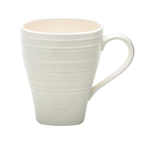Mikasa Swirl Square Mug, White, 15 oz (Oz 15 Swirl Mug)