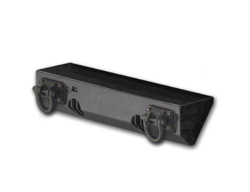 Rugged Ridge 11540.11 Textured Black Front XHD Bumper System Short Base with Light Mount for Select Jeep Wrangler JK Models