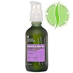 Pangea Organics Massage & Body Oil, Lavande Pyrénées à la cardamome, 4-once Box