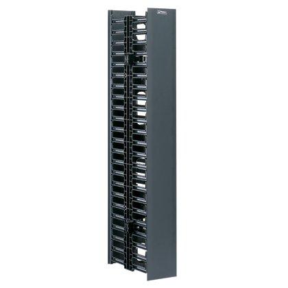 Panduit WMPVHC45E Vertical Cable Manager, Black