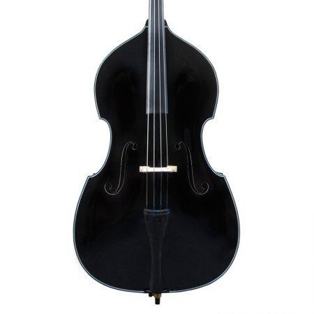 Cecilio CDB-BK Size 3/4 Black Upright Double Bass w/Adjustable Bridge by Cecilio