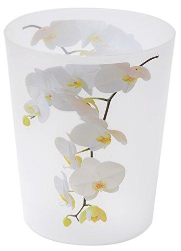 EVIDECO 6500430 Purity Orchid Printed Bathroom Floor Trash Can Waste Bin 4.5-liters/1.2-gal