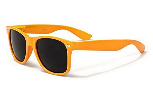 Sunglasses Classic 80's Vintage Style Design (Neon - Orange Wayfarer