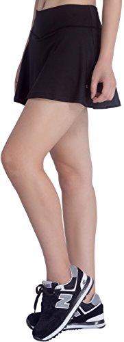 KomPrexx Ladies Tennis Skirt Quick Dry Sport Skort Plain Running Skirts With Inner Shorts