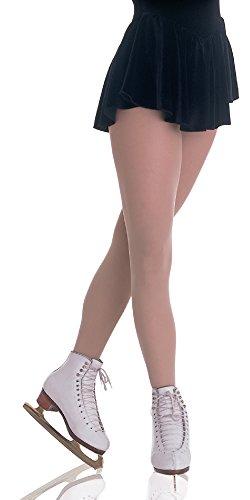 Body Wrappers C10 Girls Footed Skating Tight (Jazzy Tan - Small/Medium)