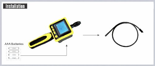 SVP 9mm Waterproof LED Lens PS-GL8805 Digital Inspection Camera with 2.4'' Color LCD Display
