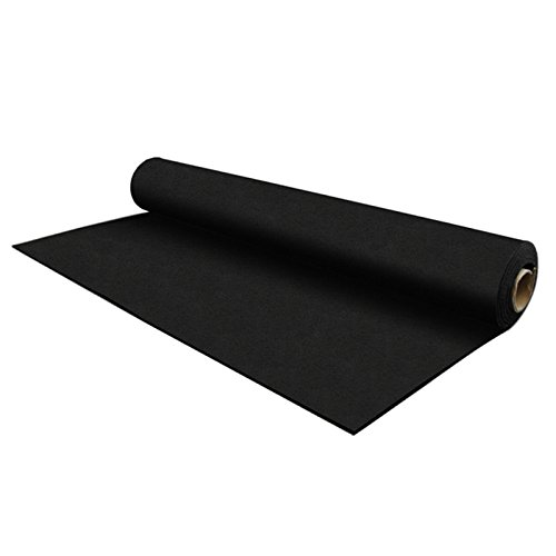 IncStores 8mm Strong Rubber Rolls 4ft x 15ft Recycled Rubber Gym Flooring Rolls (Black)