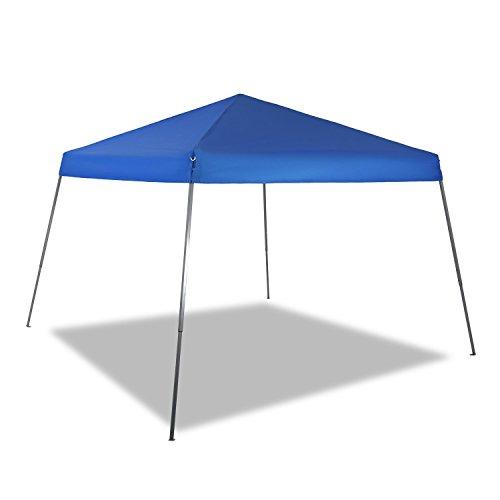 PHI VILLA 12' x 12' Slant Leg Pop-up Canopy, 81 Sq. Ft of Shade, Instant Folding Canopy, Blue by PHI VILLA