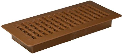 Decor Grates PL410-OB 4-Inch by 10-Inch Plastic Floor Register, Oak - Inch Register 10 Brown Floor