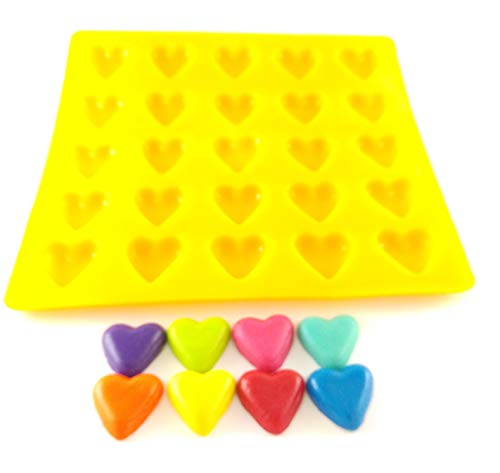 Flexible Molds - Hearts (25 cavity) - Cream Cheese Mint Molds - Candy Melts - Fondant - Caramels - Soft Candy Molds