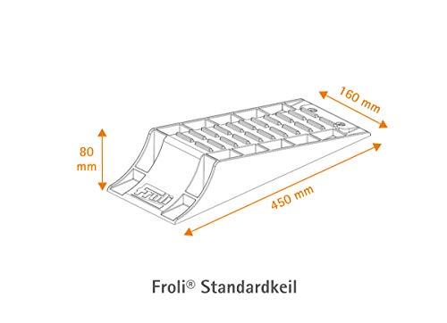 31HlF7wLOgL Froli Auffahrkeil für Wohnwagen, Reisemobil, Wohnmobil und Camper, 3-teiliges Set, 1x Standardkeil, Parkstopper…