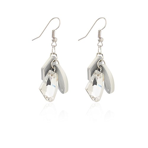 mnefel Shell Shape CZ Diamond Earrings for Women Girl Mothers Day Gift