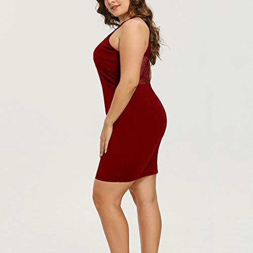 Large Size Womens Halter Mesh Mini Skirt, Sharemen Hollow Cross Strap Slim Dress at Amazon Womens Clothing store: