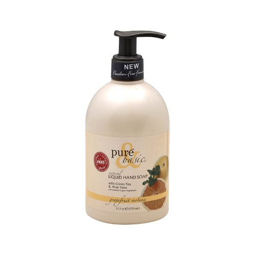 Pure and Basic Natural Liquid Hand Soap Grapefruit Verbena - 12.5 fl oz - Basic Grapefruit Verbena Natural