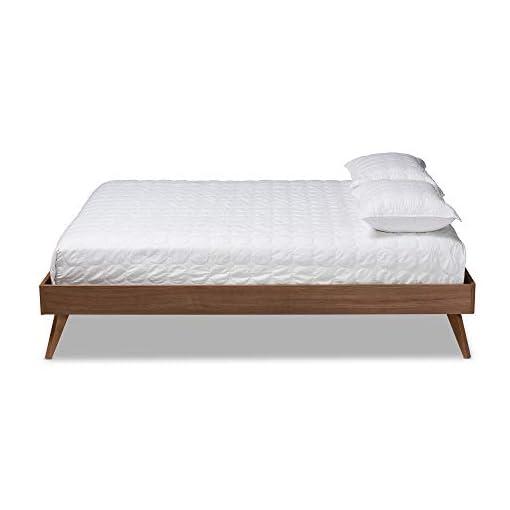 Bedroom Baxton Studio Bed Frame, King, Brown modern beds and bed frames