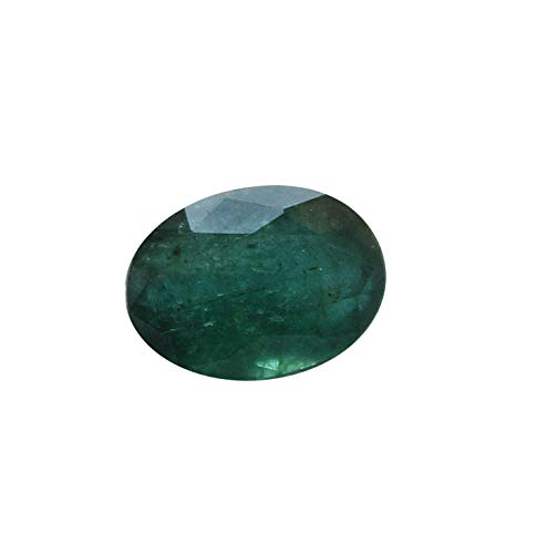 (Jaipur Gems Mart GTL Certified 4.50 Cts Faceted Oval Shape Cut Rich Green Good Luster Zambian Natural Emerald Panna Loose Gemstone Piece for Jewelry Making Ring Size 11.60 x 8.50 x 6.50 mm Clear)