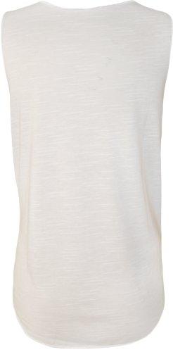 WearAll - Damen 'Dope' Slogan Geste Ärmellos Tank Vest Top - Weiß - 36-38