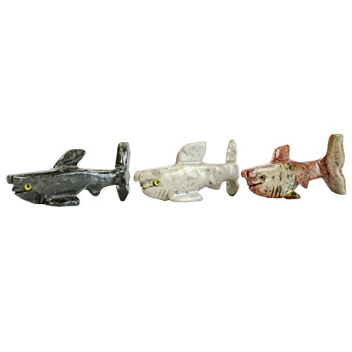Digging Dolls : 10 pcs Artisan Hammer Head Shark Collectable Animal Figurine - Party Favors, Stocking Stuffers, Gifts, Collecting and More! by Digging Dolls