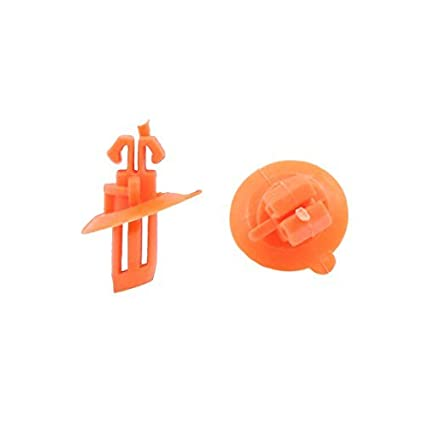 eDealMax 100 piezas de plástico tipo de inserción del remache Sujetador del detenedor de parachoques Pin